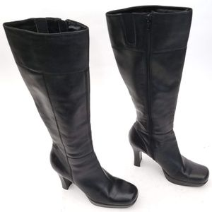 Bakers Gorgeous Tall Heeled Boots Zip up Size 8